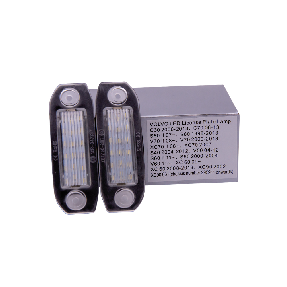 2Pcs Canbus No Error LED License Plate Light for <font><b>Volvo</b></font> S80 <font><b>XC90</b></font> S40 V60 XC60 S60 C70 V50 XC70 V70 Number Lamp image