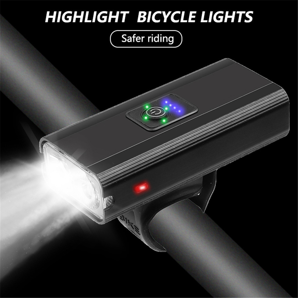 #H40 Bicycle Light Waterproof USB Rechargeable Front LED Bike Lights Cycling Lamp Torch Handlebar Flashlight Bike Accessories