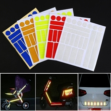 MTB Bike Reflective Stickers Fluorescent Motorcycle Bicycle Reflector Cycling Wheel Rim Night Safty Warning Reflector Film Decal