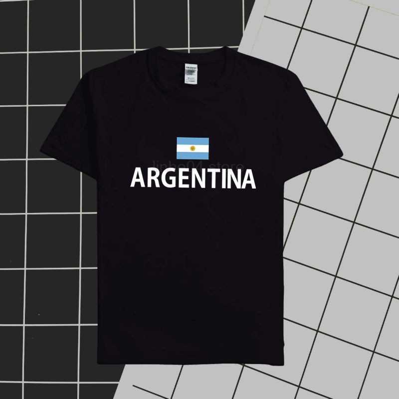Argentina masculino t camisa argentina 2020 camisas nações equipe 100% algodão camiseta roupas de ginástica topos t país bandeira ar
