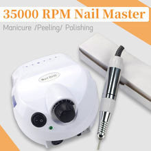 цена на 35000 RPM Electric Nail Drill Manicure Pedicure Set for Polish Remover Electric Nail File With Milling Cutter Nail Drill Machine