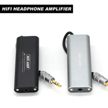 цена на Portable Mini HIFI Headphone Amplifier Professional Portable Mini 3.5mm Headphone Audio Amplifier for Mobile Phones