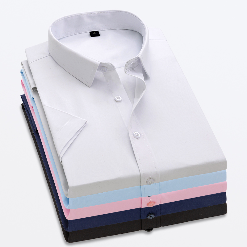 Men's Summer Style High Quality 100% Cotton Shirt Short Sleeve Men's Shirt