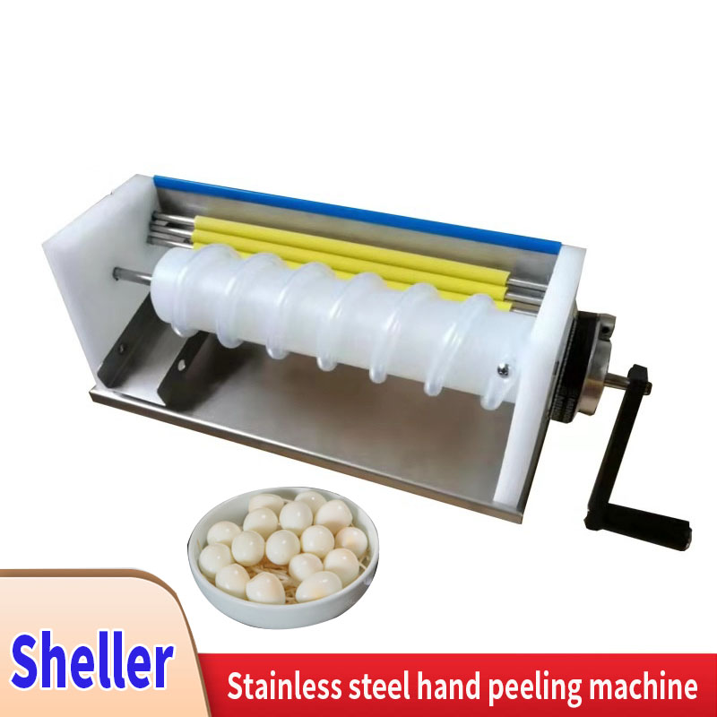 Quail Egg Sheller Stainless Steel Hand-Cranked Egg Peeler Bird Egg Peeler Peeling Peeling Machine New Peeling Machine