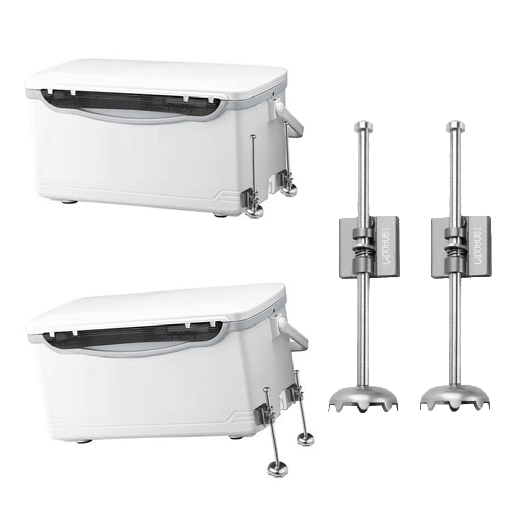 1 Pair Alloy Telescopic Fishing Box Lifting Legs Support Foot Stand