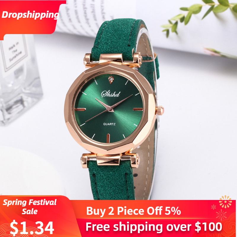 Fashion Women Leather Casual Watch Luxury Analog Quartz Crystal Wristwatch Fashion Casual Female Wristwatch Luxury 2019 Dress