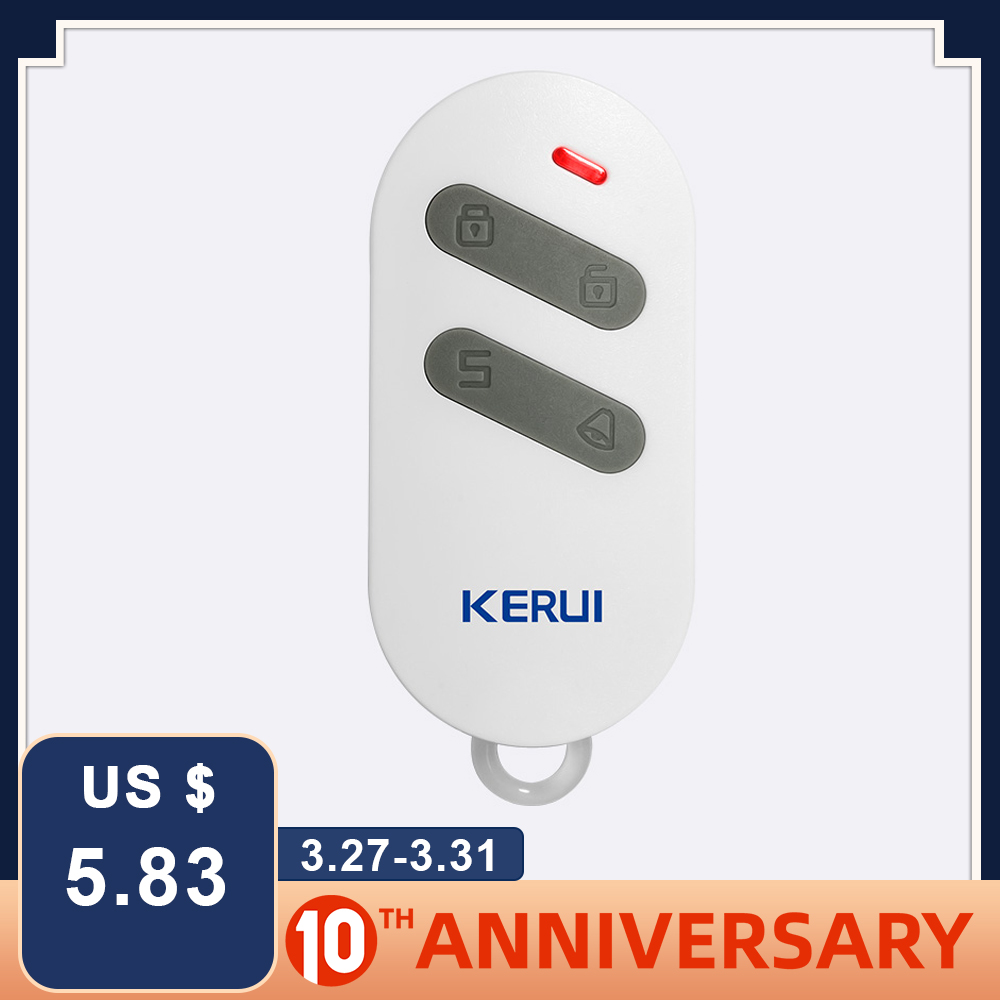KERUI RC532 Wireless Portable Remote Control 4 Buttons Controller For KERUI G18 G19 W1 W2 K7 Home Security Alarm System