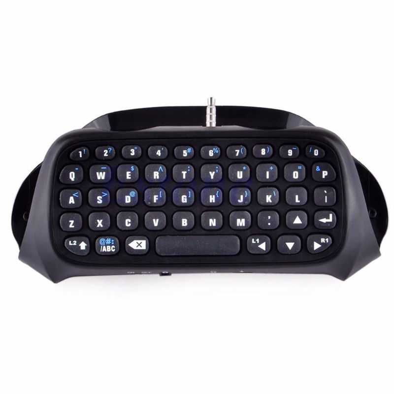 New Wireless Bluetooth Keyboard Keypad Chatpad For Game 4 Controller PS4 PlayStation...