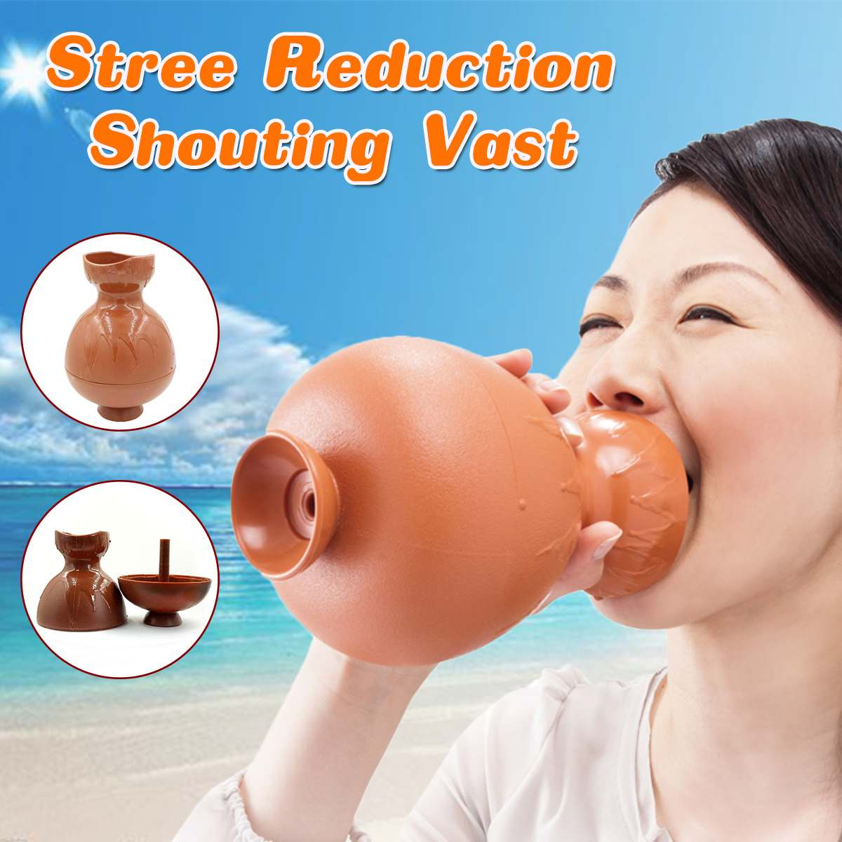 Shouting Vase Anti Stress Toy Relief Stress IdeaGift Novelty Funny Screaming Kettle Vent Toy For Adult