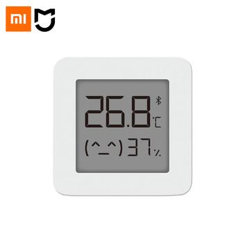Xiaomi Mijia-Bezprzewodowy inteligentny termometr i higrometr cyfrowy 2 urządzenia do mierzenia temperatury i wilgotności elektryczny Bluetooth współpraca z aplikacją Mijia najnowsza wersja tanie i dobre opinie CN (pochodzenie) XIAOMI Mijia Bluetooth Digital Thermometer 2 Gotowa do działania 2 KANAŁY