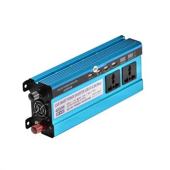4000W Inverter 12V/24V/48V To 220V Voltage Converter Transformer Double LED Display 4 USB Car Solar Triple Power Inverter 1