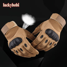 Gants de Moto en cuir artificiel pour écran tactile, équipement de protection complet des doigts, jointures dures, pour motard de course, Motocross
