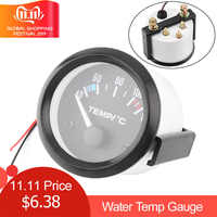 Newest 2inch 12V Universal Car Water Temperature Temp Gauge Black Shell 40 - 120 White LED