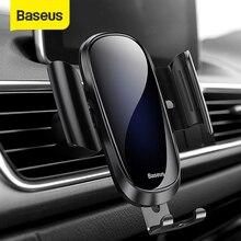 Baseus العالمي سيارة حامل هاتف آيفون X 8 7 6 سامسونج S9 سيارة الهواء تنفيس حامل الهاتف حامل جبل حامل الهاتف الذكي دعم