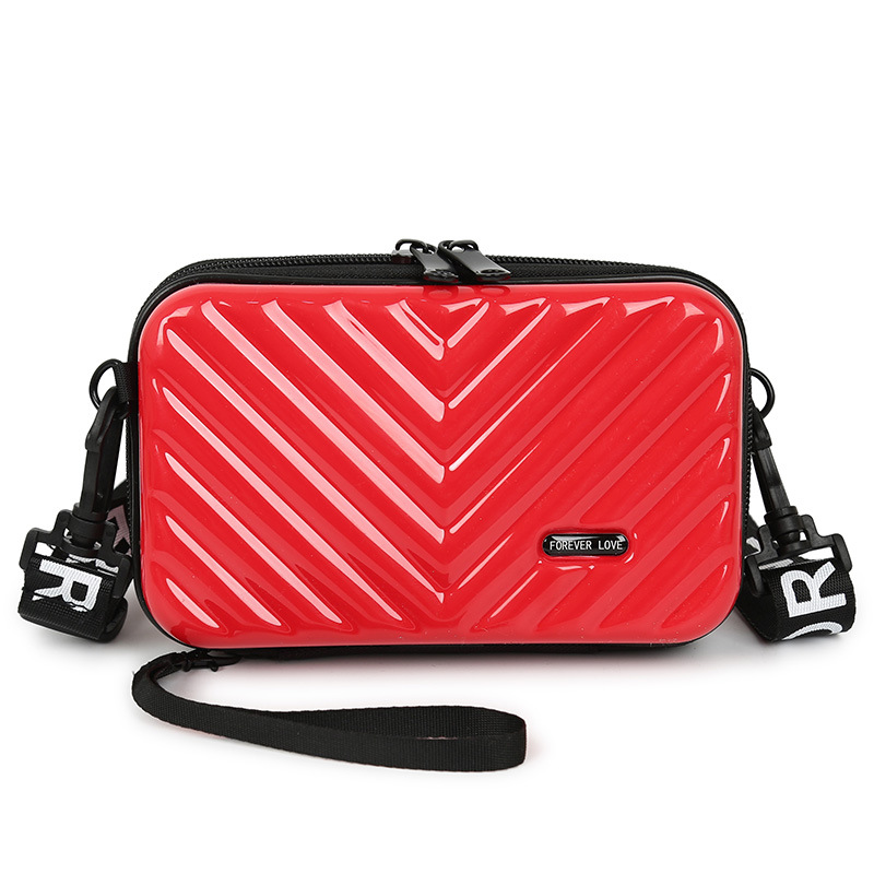 Luxury Hand Bags For Women New Suitcase Shape Totes Fashion Mini Luggage Bag Waterproof Wash Bag Mobile Phone Bag Mini Box Bag
