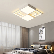 купить White square modern led Ceiling lights indoor lighting Metal+acrylic ceiling light for Bedroom ceiling lamp luminaire plafonnier по цене 6072.83 рублей
