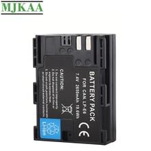 цена на MJKAA 1PCS 2650mAh LP-E6 7.4V 19.6Wh Camera Battery For Canon EOS 5DS R 5D Mark II Mark III 6D 7D 60D 60Da 70D 80D DSLR EOS 5DS