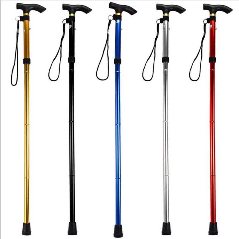 You Ji Outdoor Elderly Crutches Folding Wand Stick Anti-slip Folding Cane Manufacturers Direct Selling Currently Available Whole