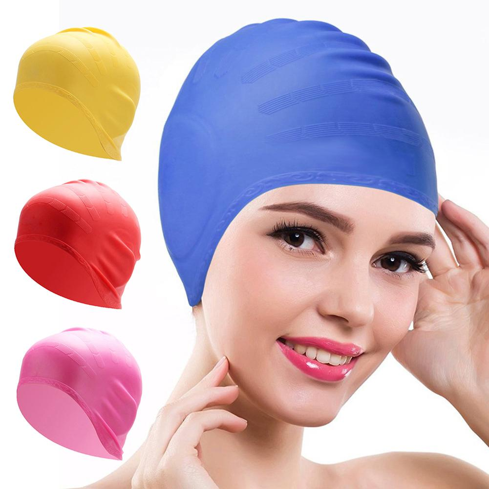 SANWOOD Cover Elastic Hat Swimming-Hat Unisex Waterproof Solid Adult Ear-Pool Silicone