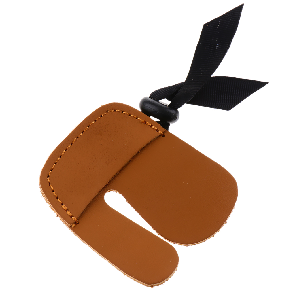 Adjustable Archery Finger Tab Guard Right Hand Bow Protector Gear Glove Pad