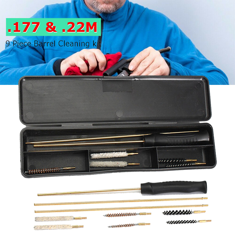 9 In 1 Universal Gun Brushes Cleaning Kit Set For Rifle Pistol Clean Tools