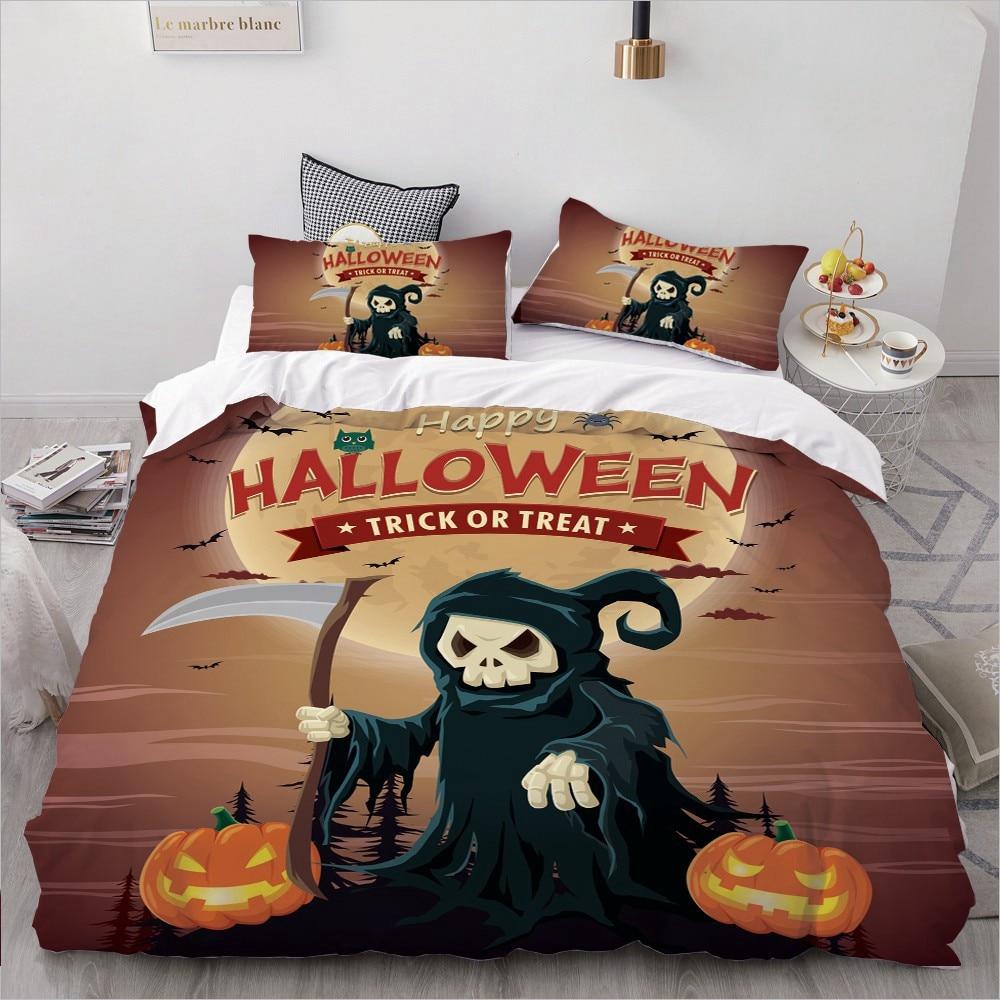 Halloween Reaper Bedding King/Queen,3D Cartoon Bedding Set For Kids/baby/children Duvet Cover Set Single,Quilt/Blanket Cover Set