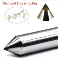 2 sztuk 3.175mm diament pen point narzędzia do grawerowania grawer frezowanie cnc cutter circuit board metal kamień aluminium narzędzia do rzeźbienia bity