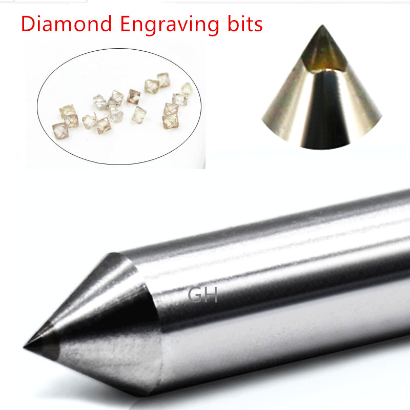 2pcs 3.175mm Diamond Pen Point Engraving Tools Engraver Cnc Milling Cutter Circuit Board Metal Stone Aluminum Carving Tools Bits