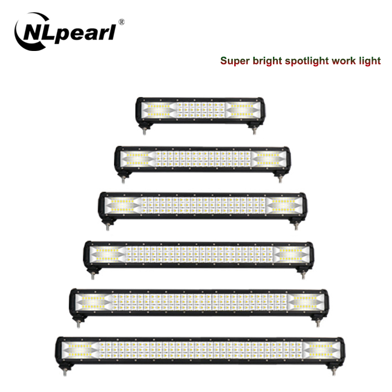 Nlpearl 1PCS Light Bar/Work Light 216W 288W Led Light Bar 12/24V Led Spotlight For Car Offroad Tractor Truck 4x4 SUV ATV Boat