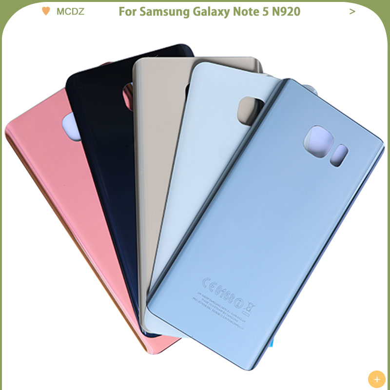 New Note 5 Battery Cover For Samsung Galaxy Note 5 N920 N920F N920A Back Cover With Camera Lens Rear Door Glass Housing Case