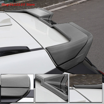 Rear Trunk Spoiler For Toyota RAV4 RAV-4 2020 2019 Wing Spoiler Carbon Fiber ABS Rear Trunk Lip Car Styling for infiniti g37 4door sedan rear spoiler wing lip car styling for g37 high quality carbon fiber rear trunk spoiler wing 2007 13