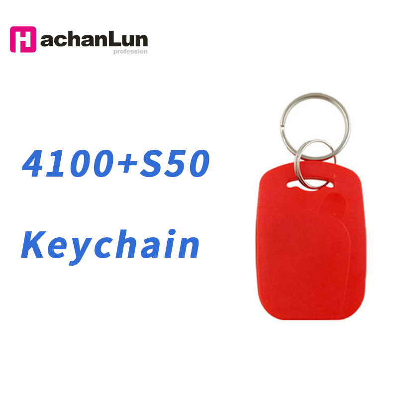 5/10PCS RFID Dual Chip Smart NFC IC + ID Composite Keychain 125KHZ 13.56MHZ EM4100 TK4100 + S50 Fudan Keychain
