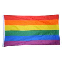 علم LGBT سلسلة دائمة قوية قوس قزح العلم (خطوط مخيط) الثقيلة النايلون أعلام فخر مثلي الجنس مع الحلقات النحاس مثليه مثلي الجنس