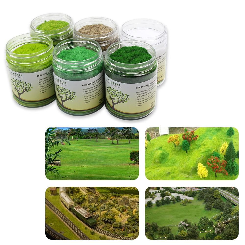 210G 3mm Electrostatic Grass Static Grass Powder Flock Turf Flock Lawn Nylon Mixed 6 Colors Model CFA5Model Building Kits   -