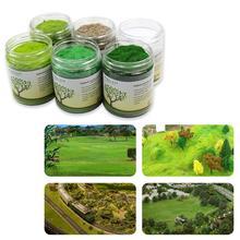 Césped electrostático de 210G y 3mm, hierba estática en polvo, césped aterciopelado, nailon mezclado en 6 colores, modelo CFA5