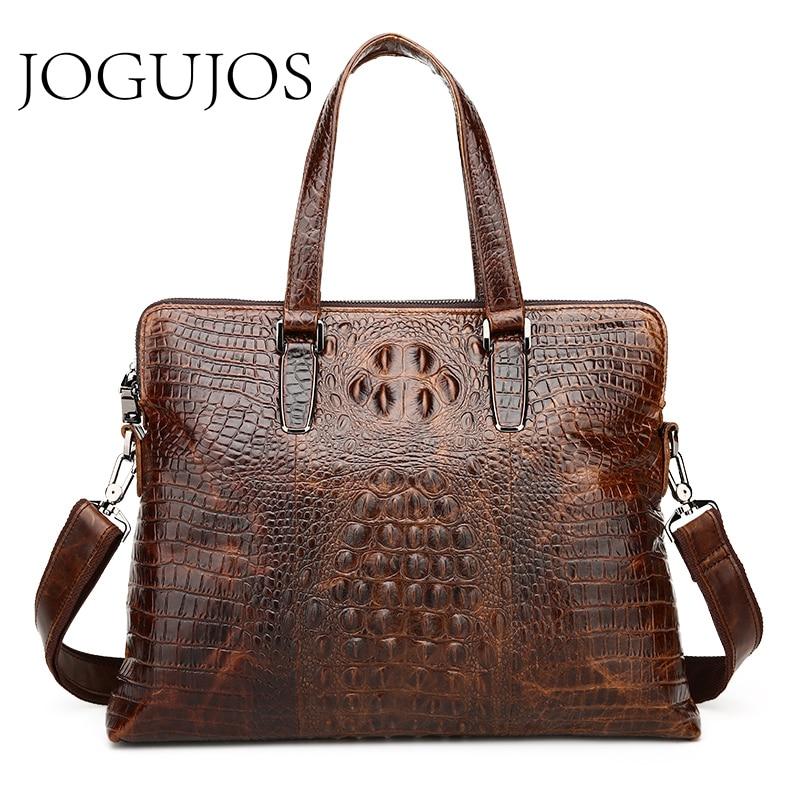 JOGUJOS New Design Genuine Leather Shoulder Bag Men's Business Briefcase Brand Laptop Bag Men's Briefcase Travel Messenger Bag