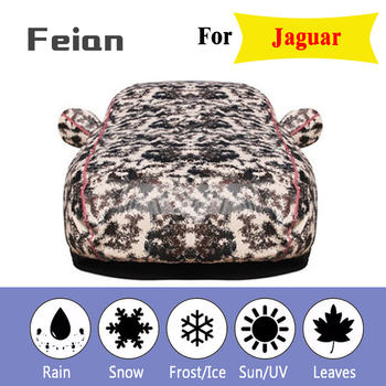 car cover Oxford cloth waterproof Car clothes With side door Four seasons Reflective strips Hatchback sedan SUV for Jaguar
