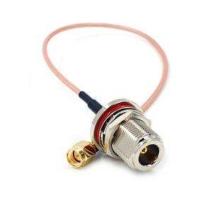 ВЧ адаптер N Женский переборка к SMA штекер коннсетор кабель RG316 Pigtail рф коаксиальные кабели соединительный кабель