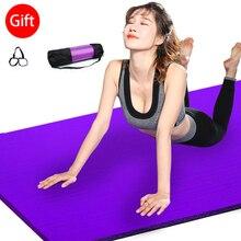10 мм утолщенные Нескользящие коврики для йоги, износостойкие коврики для фитнеса, упражнений, занятий спортом, тренажерного зала, пилатеса, коврики для йоги, сумка и ремень