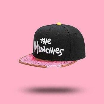 Street style THE MUNCHIES CAP snacks pink snapback hat for men women hip hop Headwear outdoor fashion baseball cap фото