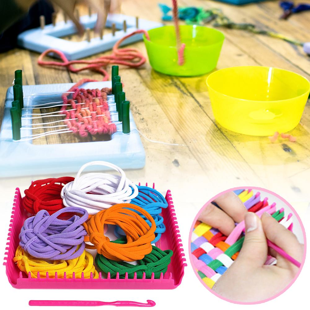 Hand-Knitted Rope Elastic Bright Braided Rope Kindergartens Use Their Hands And Brains For DIY Weaving Accessories Girl Toys