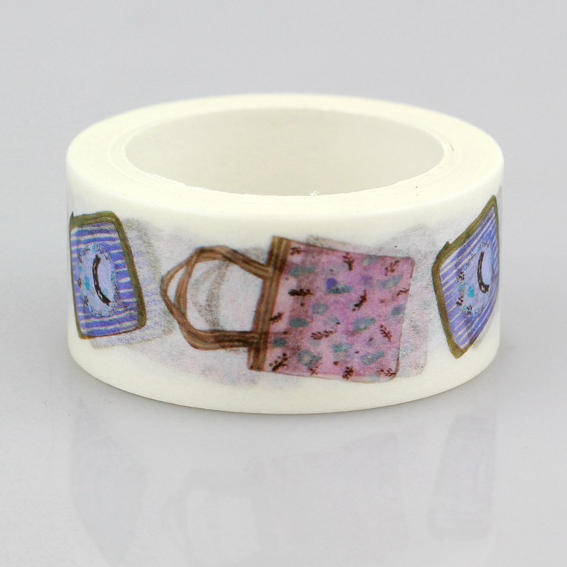 10pcs/lot Decorative Cute Handbags Washi Tapes Paper DIY Scrapbooking Planner Adhesive Masking Tapes Kawaii Stationery