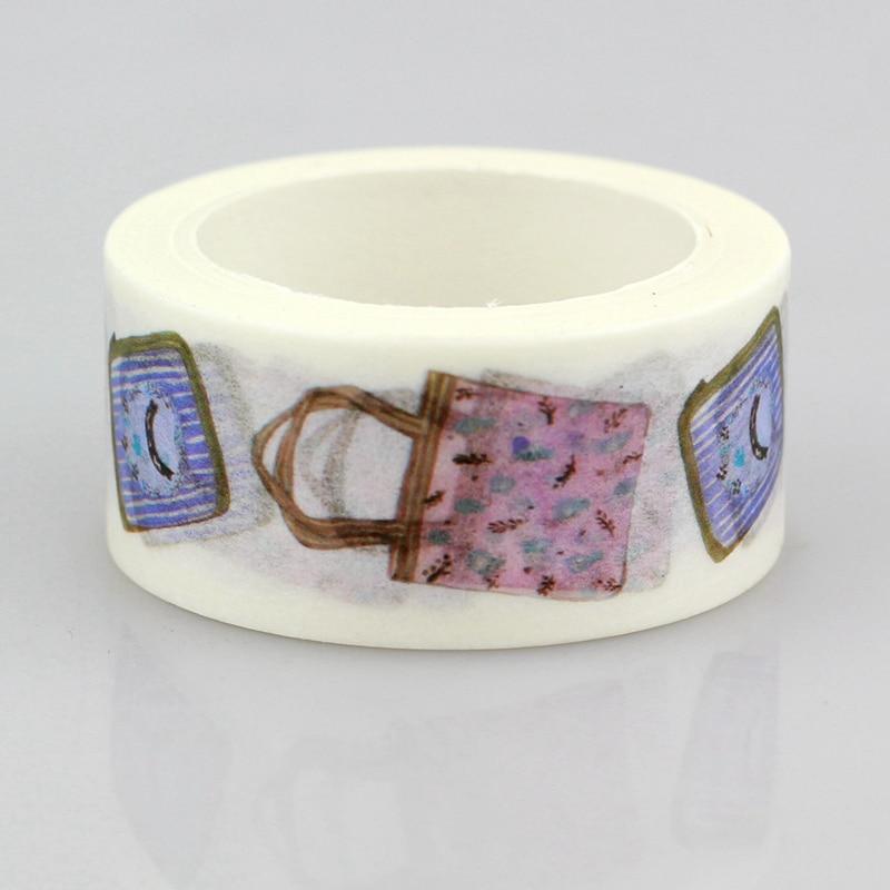 10pcs/lot Decorative Cute Handbags Washi Tapes Paper DIY Scrapbooking Planner Adhesive Masking Tapes Kawaii Stationery