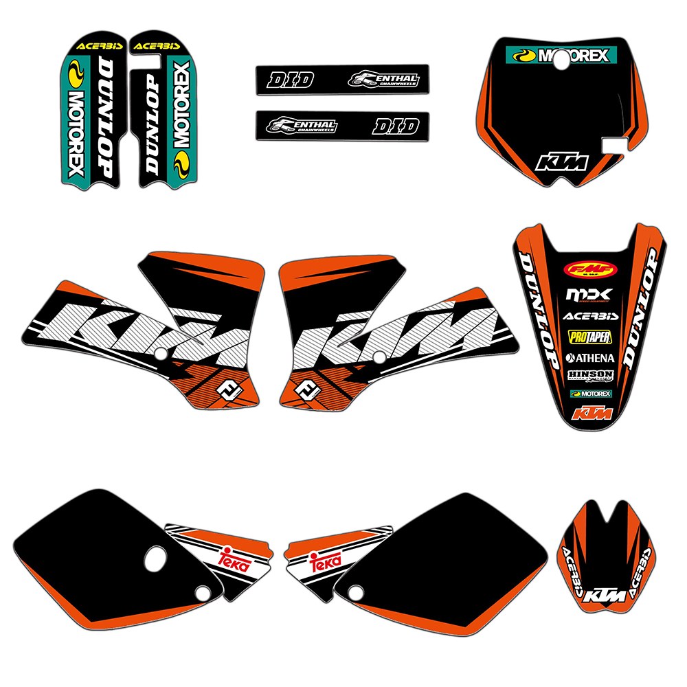 2 Styles Team Graphics <font><b>Decals</b></font> Sticker Deco For <font><b>KTM</b></font> SX65 SX 65 2002 2003 2004 2005 2006 2007 <font><b>2008</b></font> image