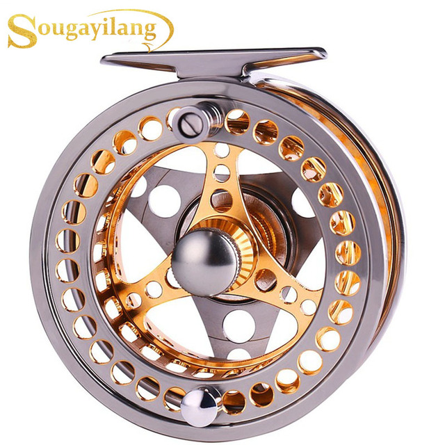 Sougayilang Large Arbor Fly Fishing Reel 2+1 BB High Die Casting Aluminium Alloy Spool Fly Reels Fishing Tackle 1