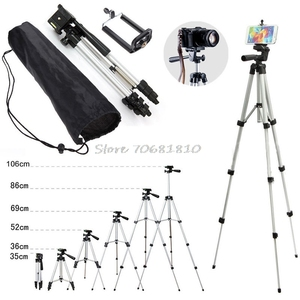 Image 1 - Professional Camera Tripod Stand Holder Mount For iPhone Samsung Cell Phone +Bag