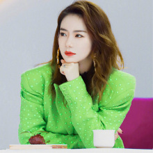 The Same Fluorescent Green Suit Coat As Autumn  New British Style Small 2019 Notched Women Jackets and Coats