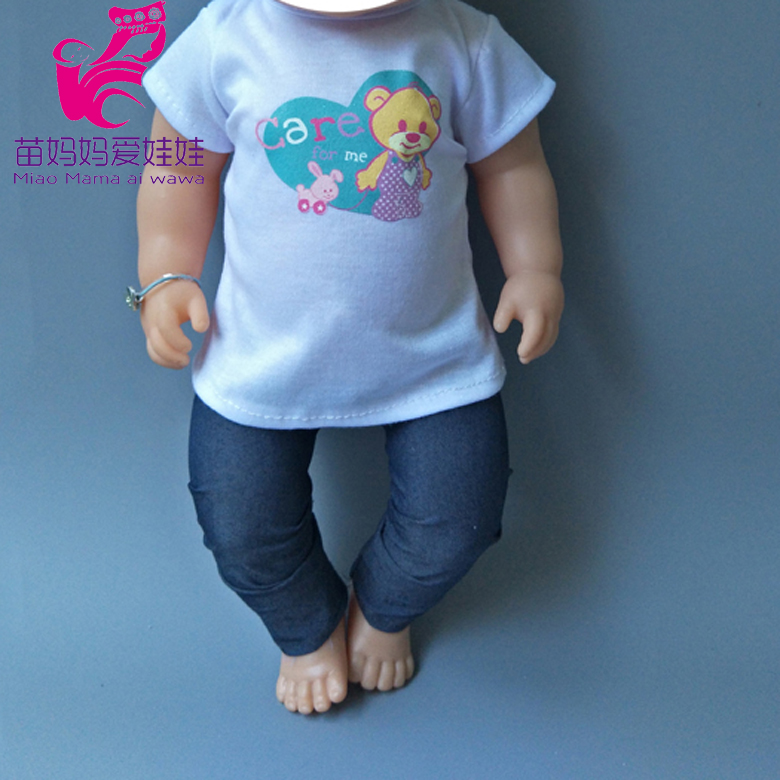 Doll Vest Pants Fit For 43cm  Baby Re Born Doll Girl Dress Boy Suit Clothes Set