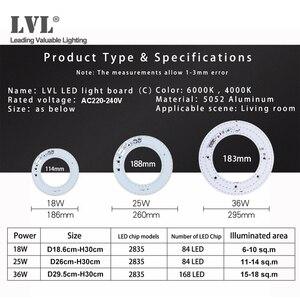 Image 5 - Светодиодный потолочный светильник круглой формы, 36 Вт, светодиодный модуль, панель, светодиодный панельный светильник 220 В, магнитная установка светильник щения