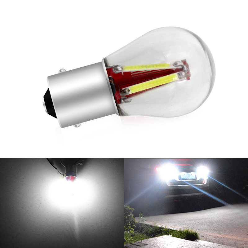 1156 <font><b>BA15S</b></font> P21W Led Bulbs 1157 BAY15D P21/<font><b>5W</b></font> Led BA15D BAU15S PY21W 800LM Car Turn Signal Lamp Red White Yellow Auto Light <font><b>12V</b></font> image